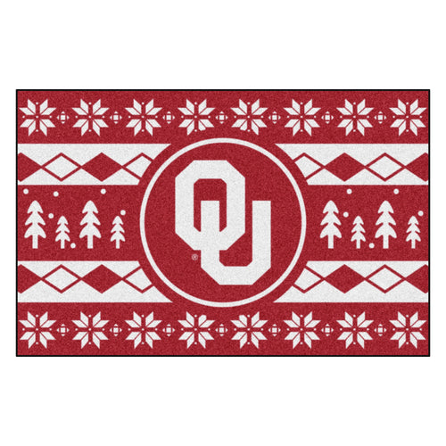 University of Oklahoma Holiday Sweater Rug