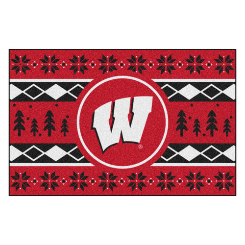 University of Wisconsin Holiday Sweater Rug
