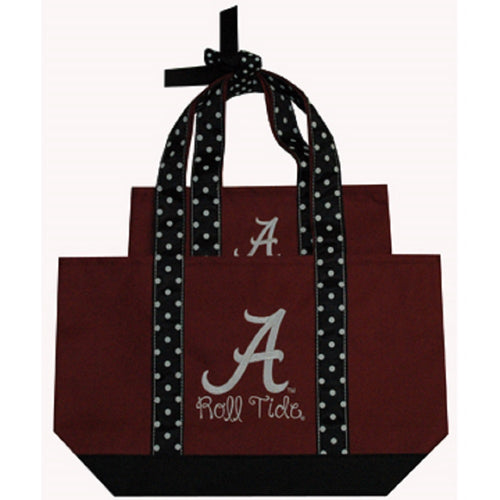 University of Alabama Polka Dot Tote Set