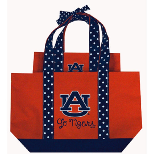 Auburn University Polka Dot Tote Set