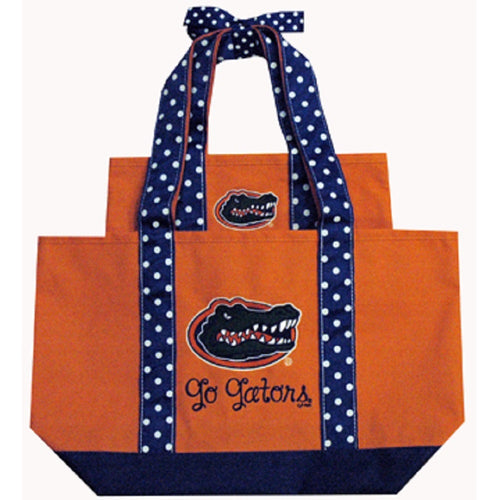 University of Florida Polka Dot Tote Set
