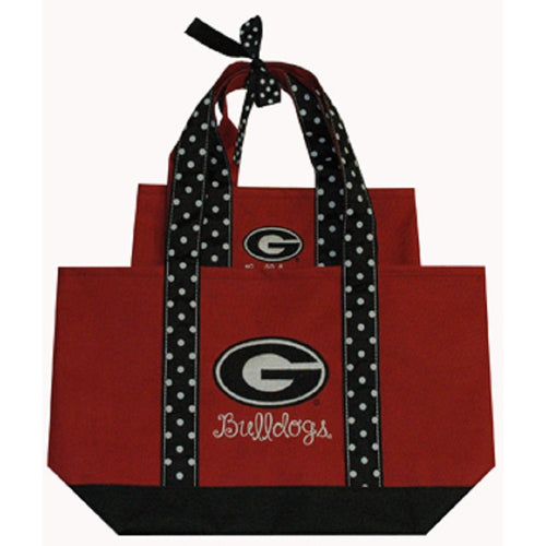 University of Georgia Polka Dot Tote Set