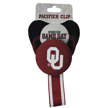 University of Oklahoma Pacifier Clip