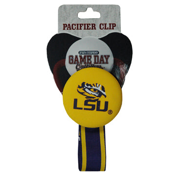 Louisiana State University Pacifier Clip