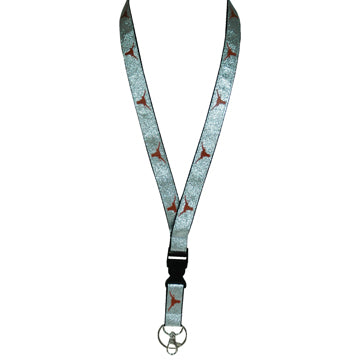 University of Texas Glitter Lanyard Keyring