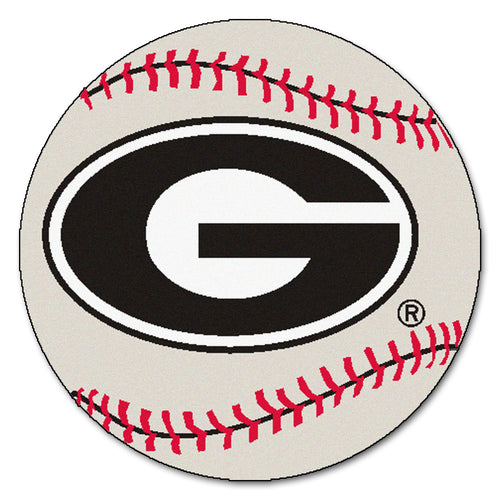 University of Georgia Baseball Area Rug