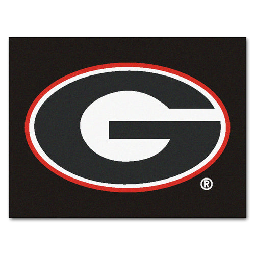 University of Georgia Black Logo Area Rug