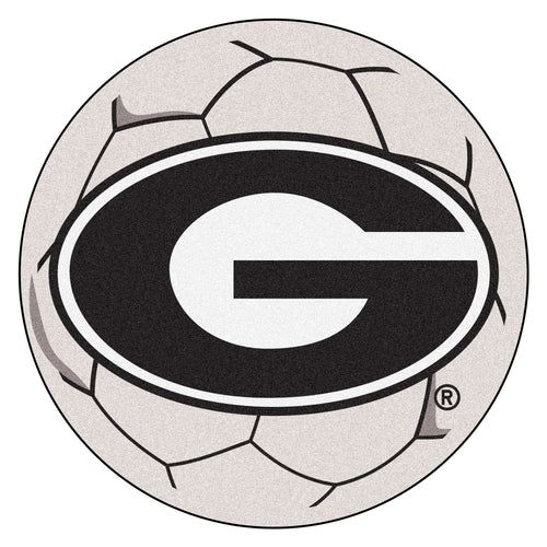 University of Georgia Soccer Ball Rug