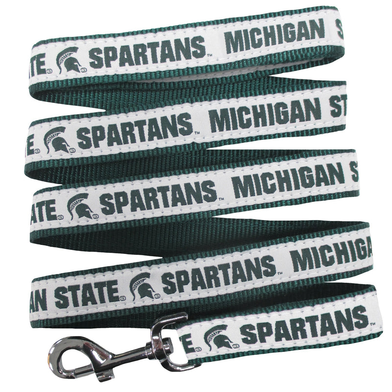 Michigan State University Nylon Ribbon Dog Leash