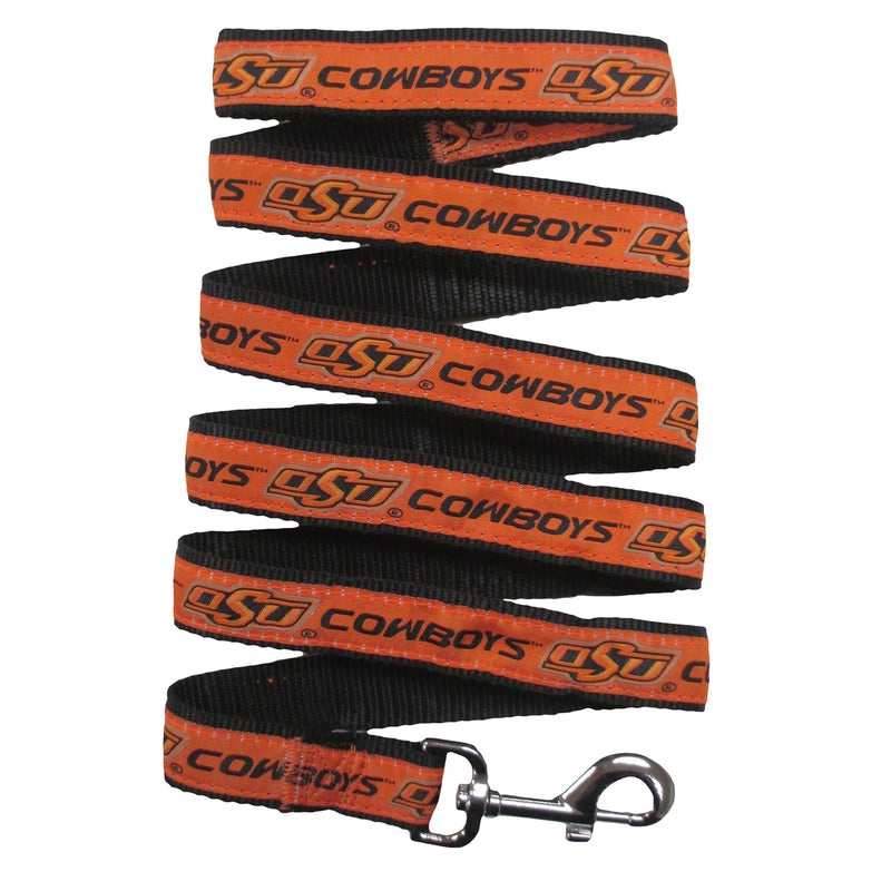 Oklahoma State University Nylon Ribbon Dog Leash