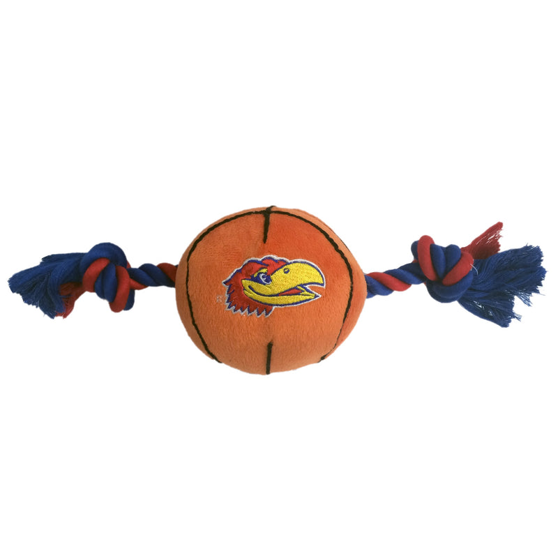 University of Kansas Basketball Tug Rope Dog Toy