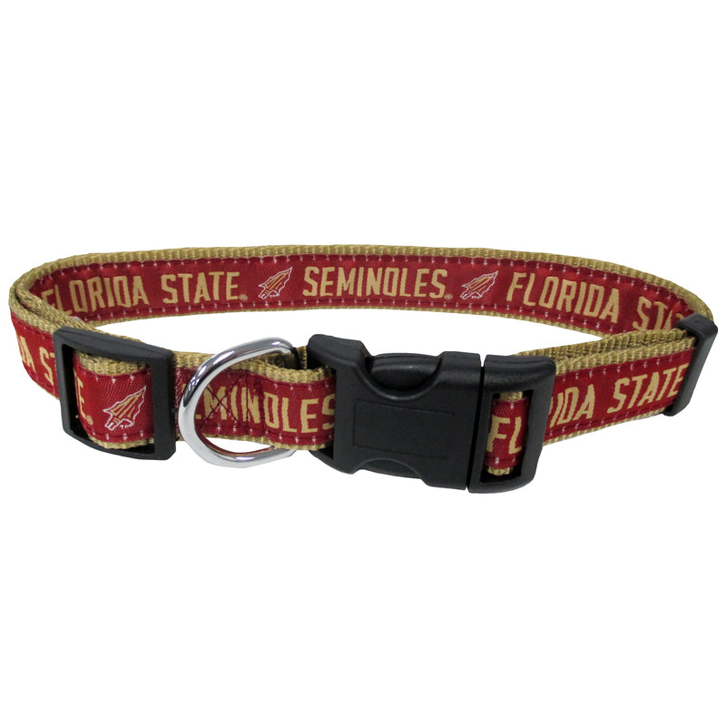 Florida State University Nylon Adjustable Dog Collar