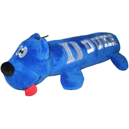 Duke University Bear Tube Dog Toy