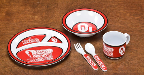 University of Oklahoma Kid's Dish Set