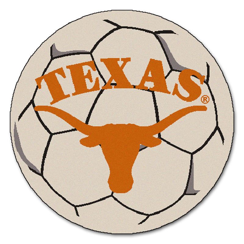 University of Texas Longhorns Soccer Ball Rug