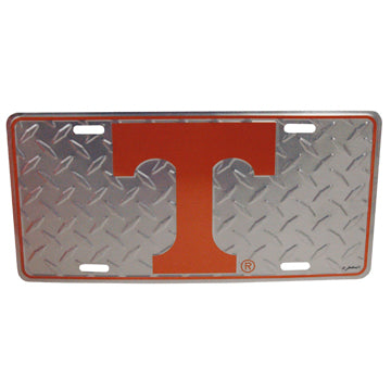 University of Tennessee Chrome Diamond Plate Car Tag