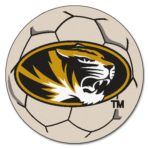 University of Missouri Soccer Ball Rug