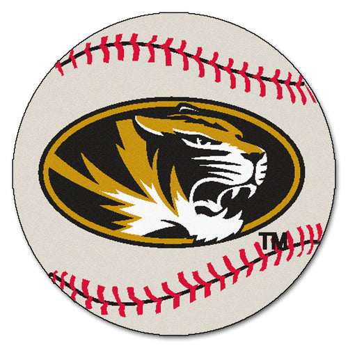 University of Missouri Baseball Area Rug