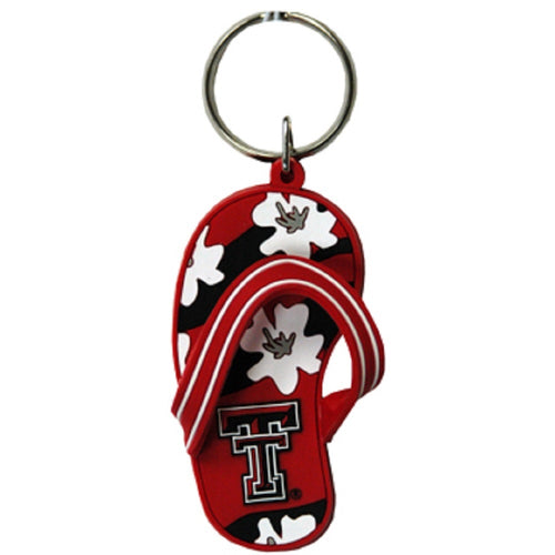 Texas Tech University Flip Flop Keychain