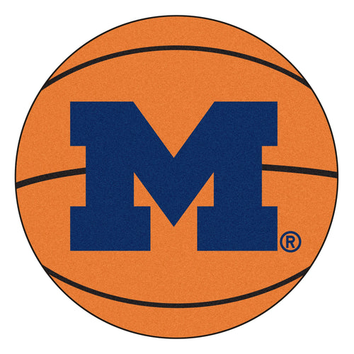 University of Michigan Wolverines Basketball Area Rug