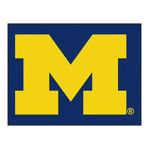 University of Michigan Wolverines Logo Area Rug