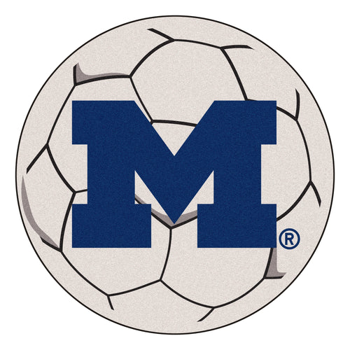 University of Michigan Wolverines Soccer Ball Rug