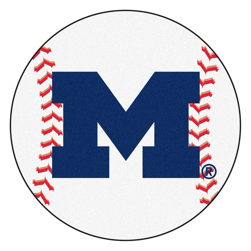 University of Michigan Wolverines Baseball Area Rug