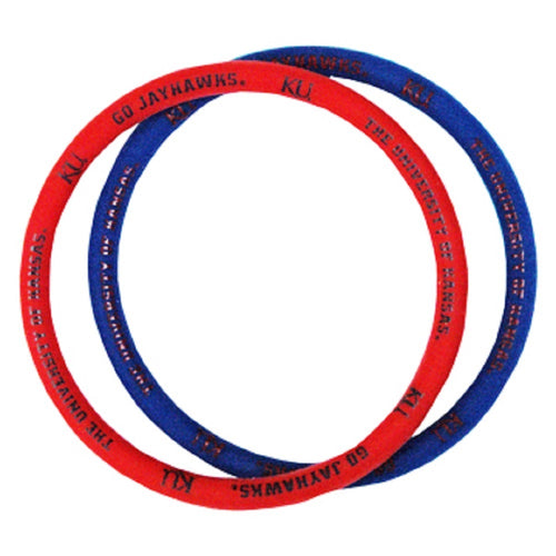 University of Kansas Gel Spirit Bracelets
