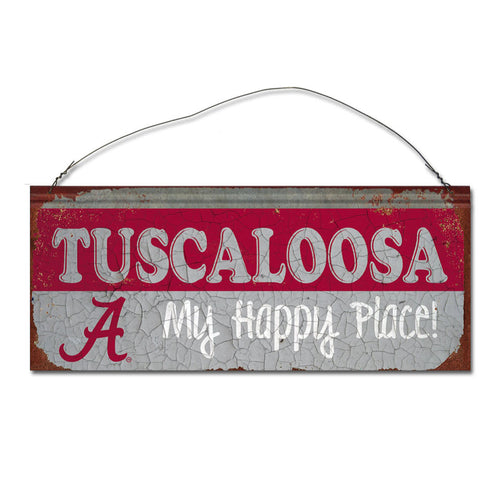 University of Alabama Happy Place Sign