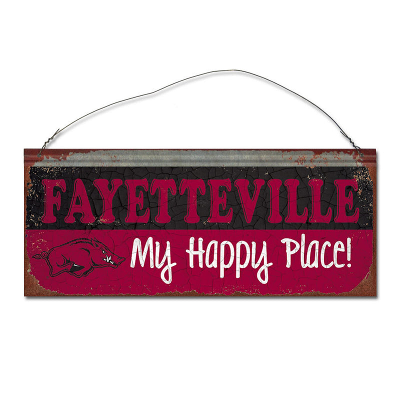 University of Arkansas Happy Place Sign