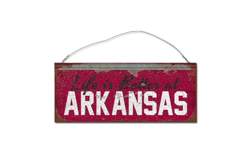 University of Arkansas 'Life is Better' Tin Sign