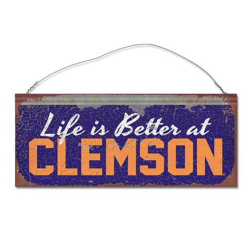 Clemson University 'Life is Better' Tin Sign