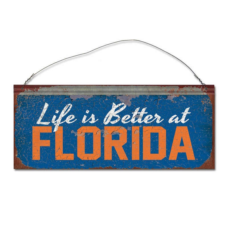 University of Florida 'Life is Better' Tin Sign