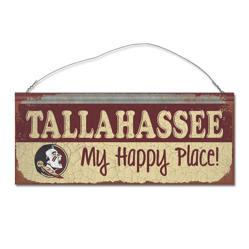 Florida State University Happy Place Metal Sign