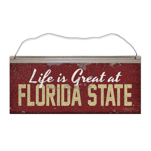 Florida State University 'Life is Great' Tin Sign