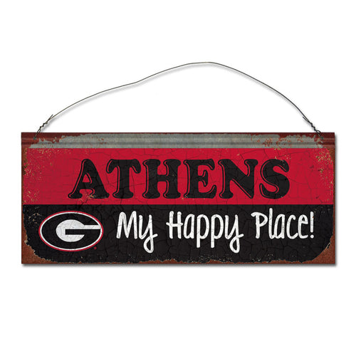 University of Georgia Happy Place Sign