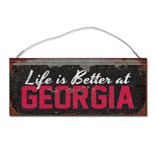 University of Georgia 'Life is Better' Tin Sign