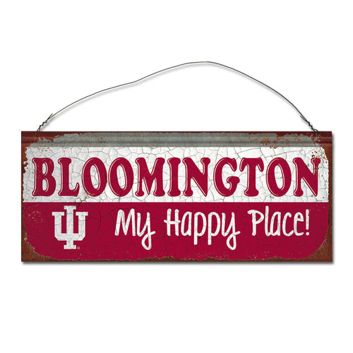 Indiana University Happy Place Sign