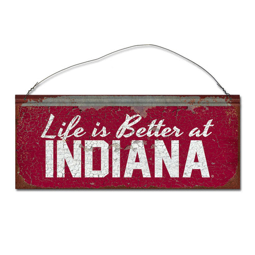 Indiana University 'Life is Better' Tin Sign