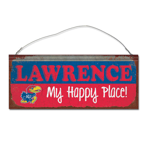 University of Kansas Happy Place Sign