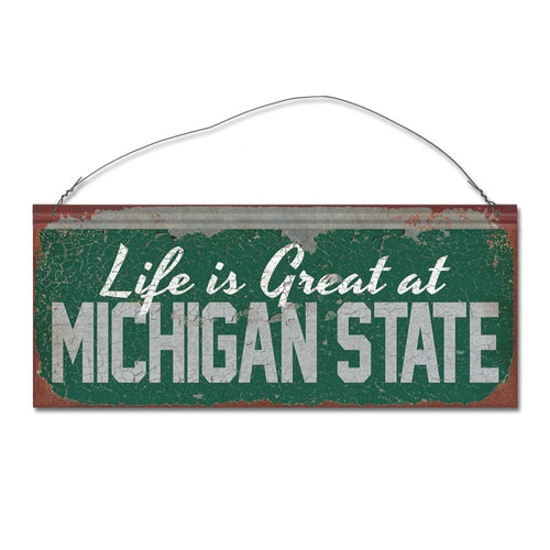 Michigan State University 'Life is Great' Tin Sign