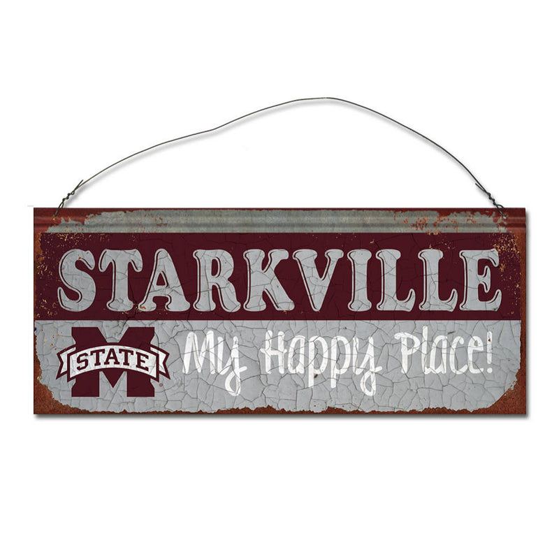 Mississippi State University Happy Place Sign