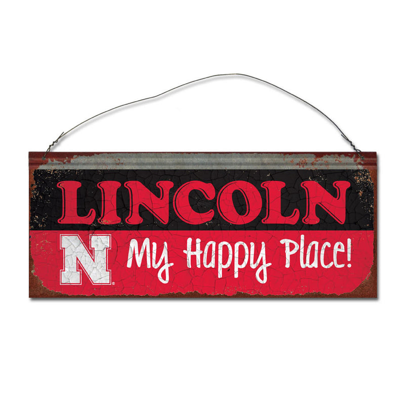 University of Nebraska Happy Place Sign
