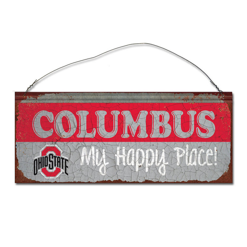 Ohio State University Happy Place Sign