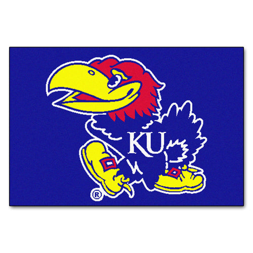 University of Kansas Logo Area Rug