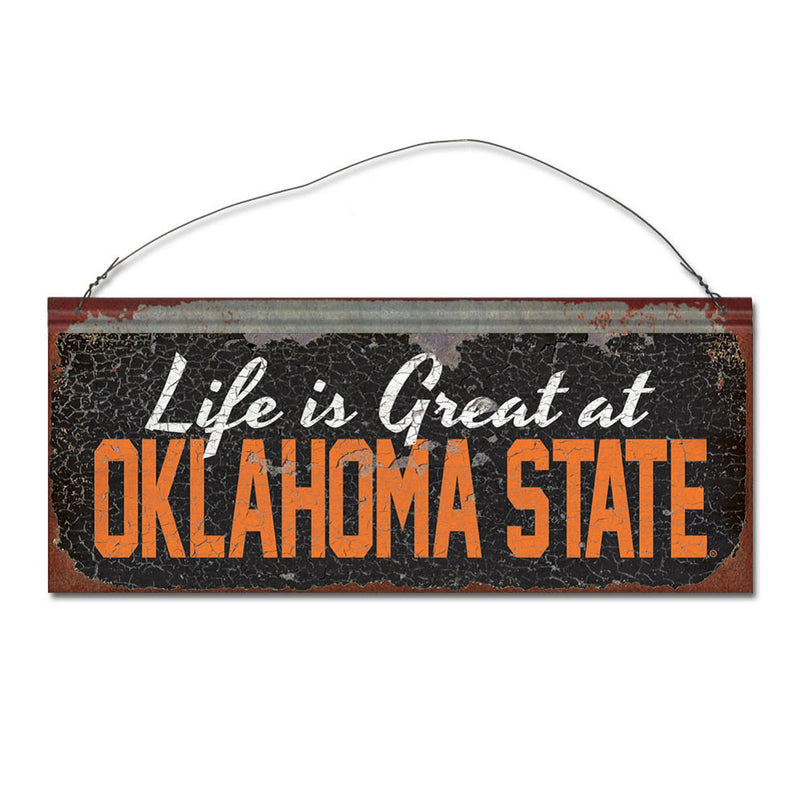 Oklahoma State University 'Life is Better' Tin Sign