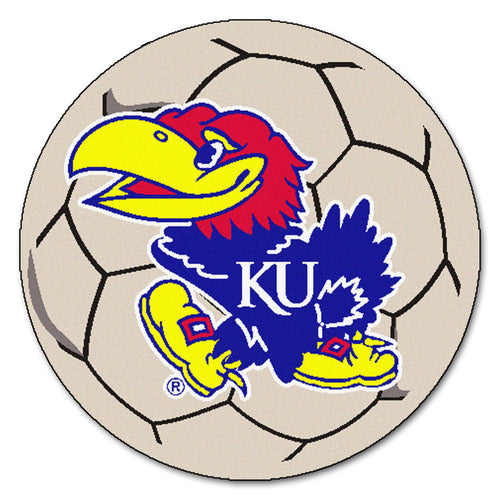 University of Kansas Soccer Ball Rug
