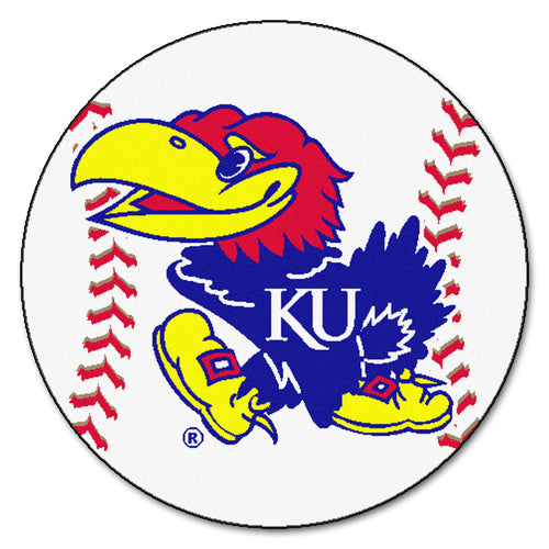 University of Kansas Baseball Area Rug