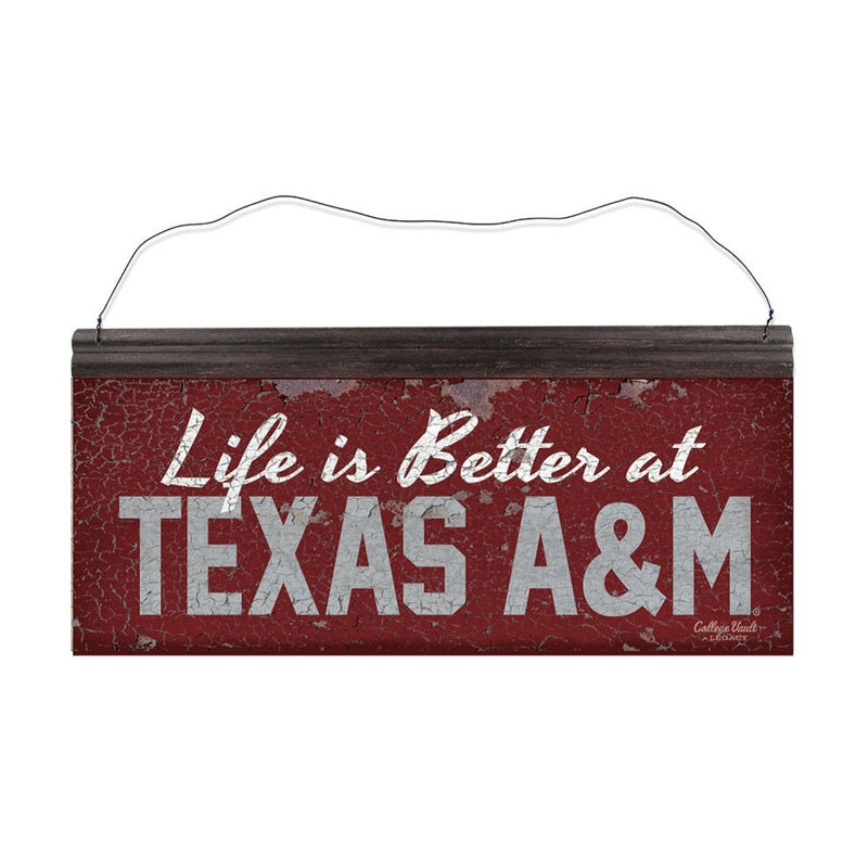 Texas A&M University 'Life is Better' Tin Sign