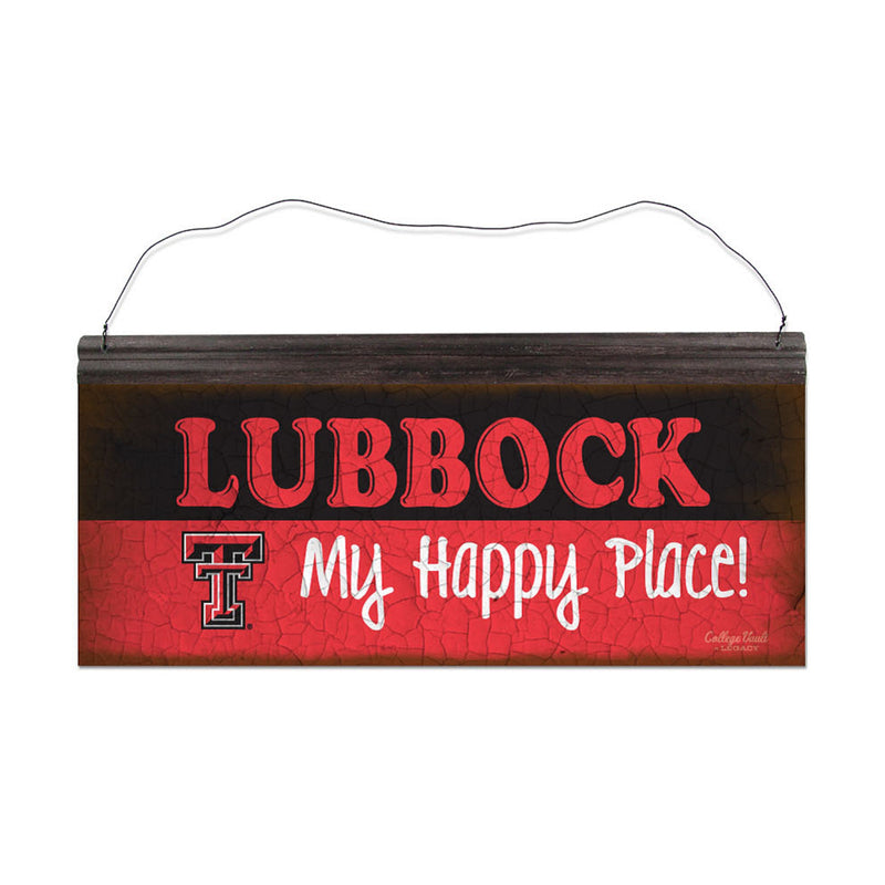 Texas Tech University Happy Place Sign